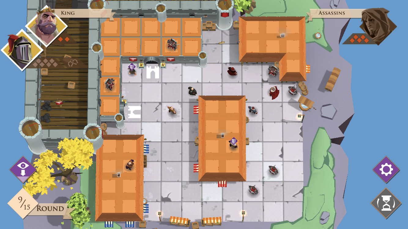 Kings and Assassins iOS review screenshot - A different view