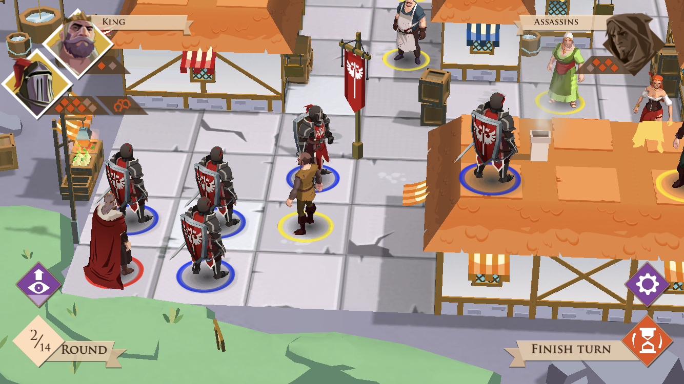 Kings and Assassins iOS review - Zoomed in on the king