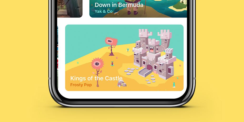 Kings of the Castle Apple Arcade screenshot - The game on the stroe