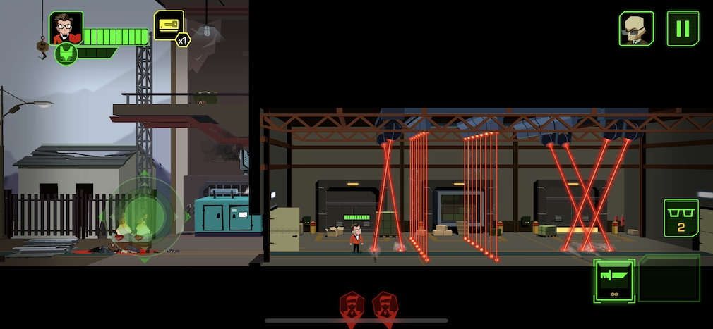Kingsman: The Secret Service iOS screenshot - A wall of lasers