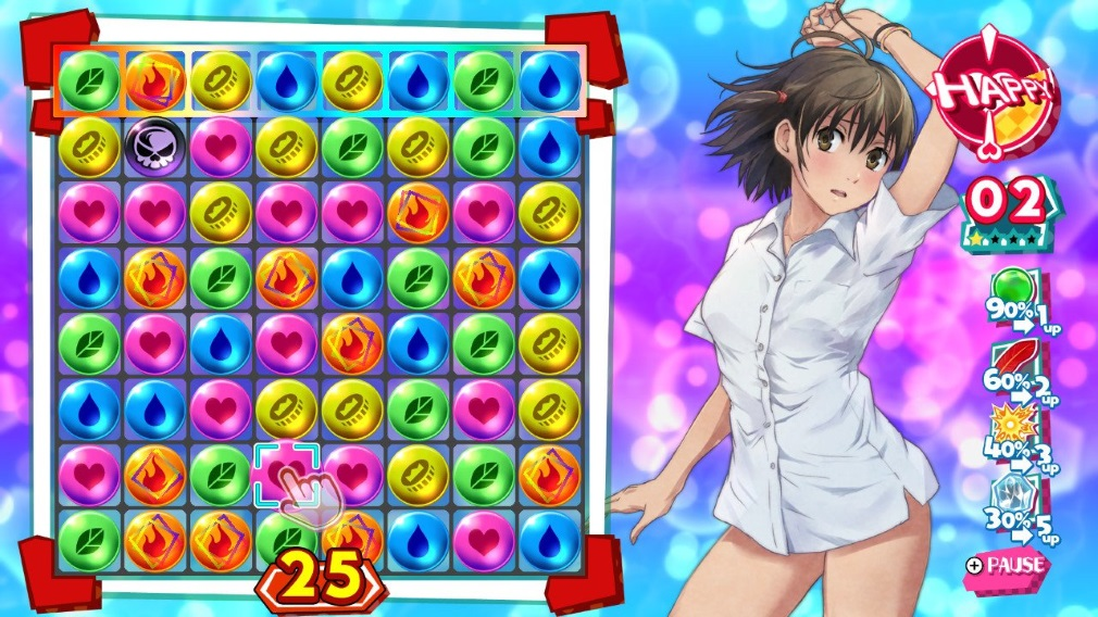 Kotodama Switch Screenshot Match 3 Play Stripped To A Shirt