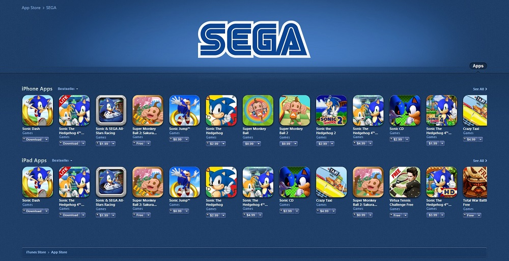 Sega mobile games