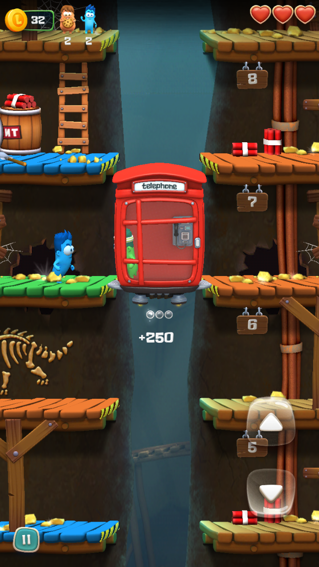 Lifty iOS review screenshot - Using a phone booth on the first level