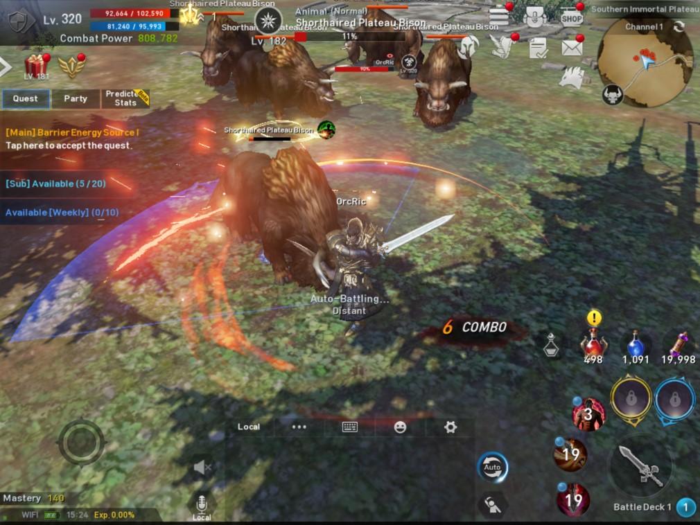 Lineage 2: Revolution iOS Screenshot Orc Huge Slash on a Bison