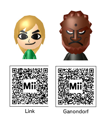 The QRepository: All the best Mii QR codes for your Nintendo