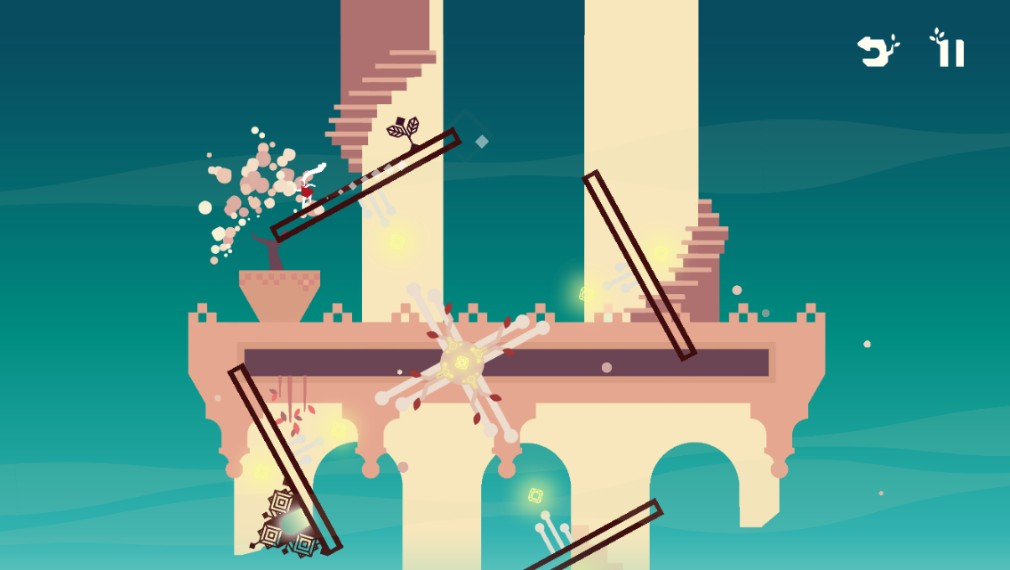 Linn: Path of Orchards iOS screenshot - A square level