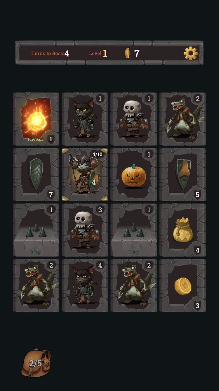 Look, Your Loot! iOS guide screenshot - Playing as the knight