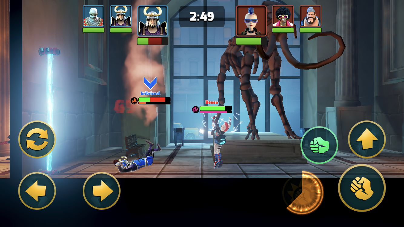 Mayhem Combat iOS review screenshot - A tag battle