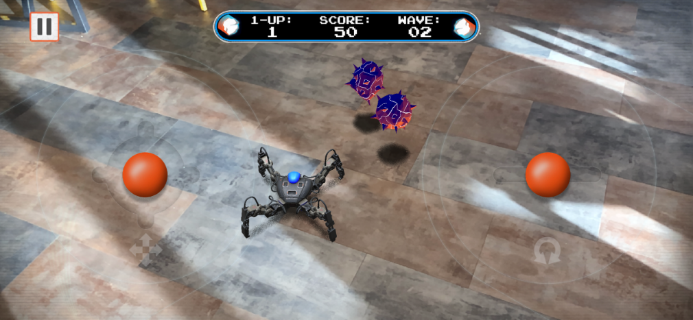 Mekamon review screenshot - Meteoroids mode