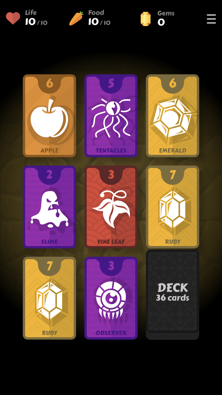 Mind Cards iOS guide screenshot - The first deal