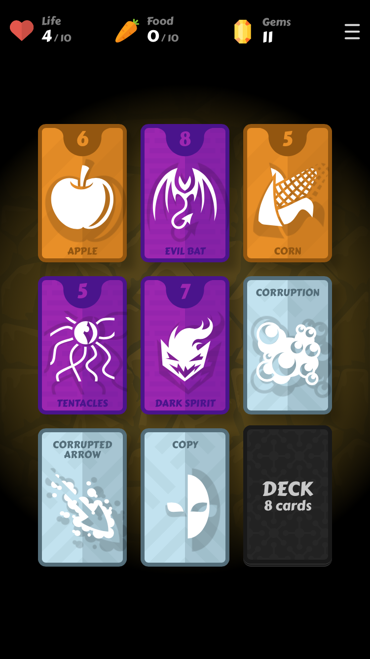 Mind Cards iOS review screenshot - Monsters but no potions