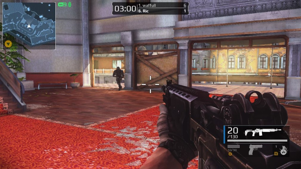 Modern Combat Blackout Switch Screenshot Guy Running Into A Room