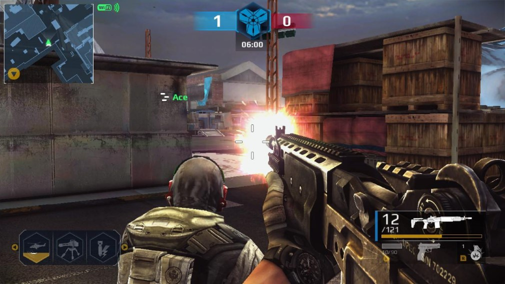 Modern Combat Blackout Switch Screenshot Shooting Behind Ace