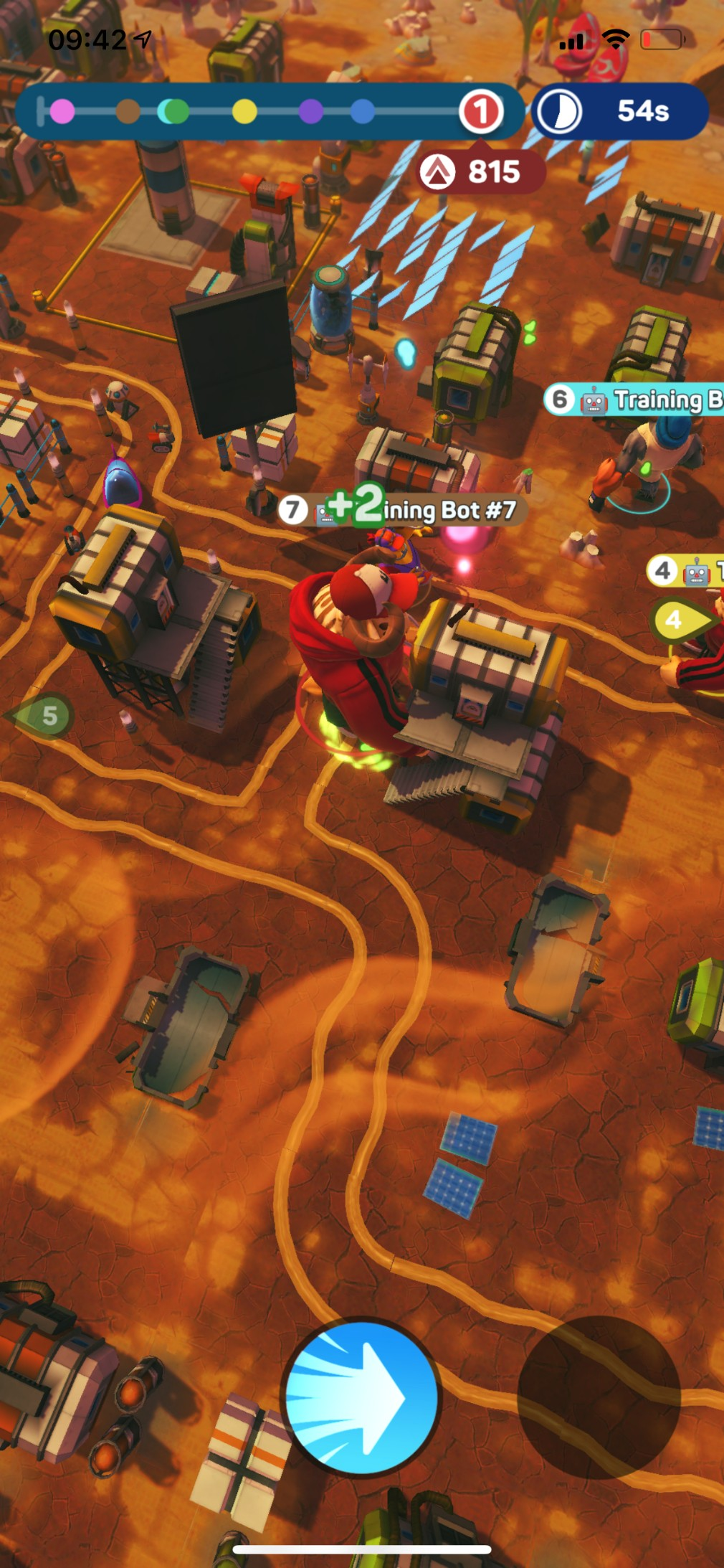 Monsters With Attitude iOS screenshot - Smashing some buildings