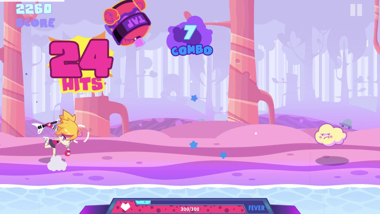 Muse Dash iOS review screenshot - Fighting a mini boss