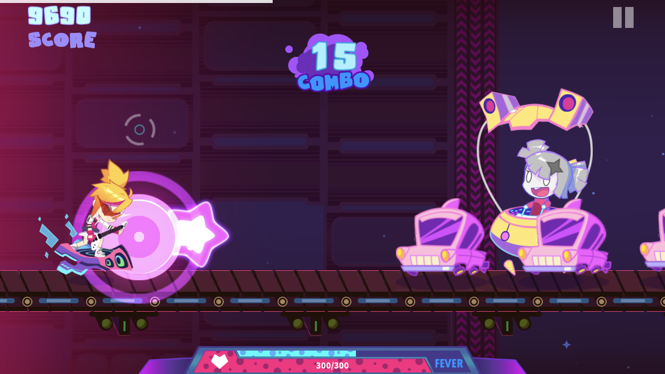 Muse Dash iOS review screenshot - Taking on a big boss