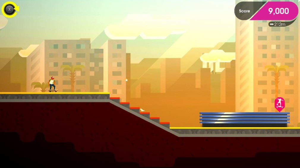 OlliOlli: Switch Stance Switch Screenshot OlliOlli 2 Stairs to Wall Gap