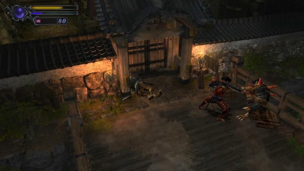 Onimusha Warlords Switch Screenshot Fighting Demons On A Bridge