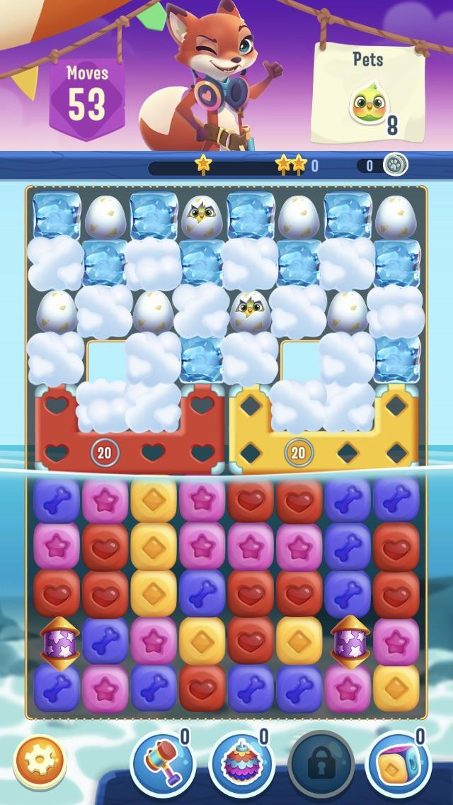 Pet Rescue Puzzle Saga screenshot - Matching some shapes