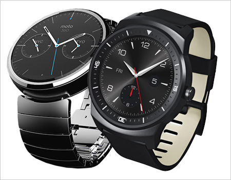 Moto 360 and LG G Watch R