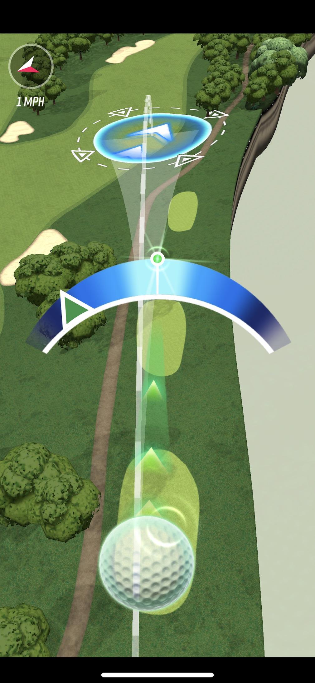 PGA Golf Tour Shootout iOS review screenshot - The ball in flight