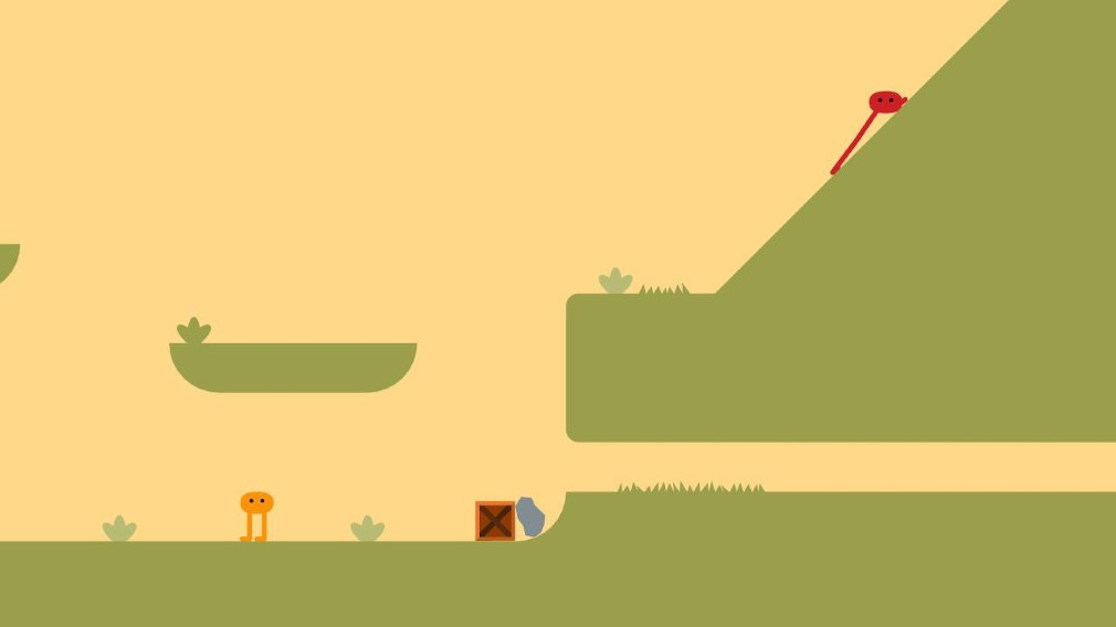 Pikuniku Swith Screenshot Co-op Mode Piku and Niku Running Up That Hill