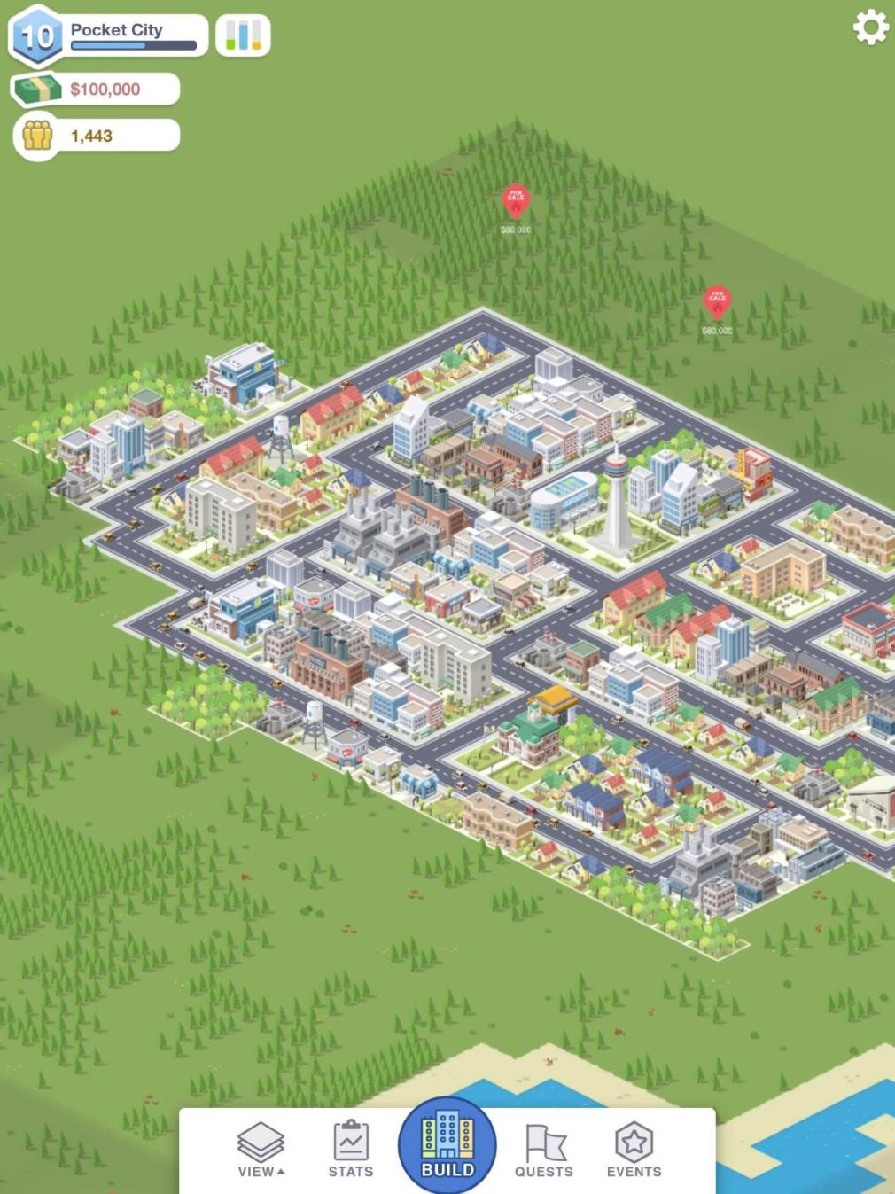 Pocket City is a mobile town-planning sim that calls to mind classics of the genre