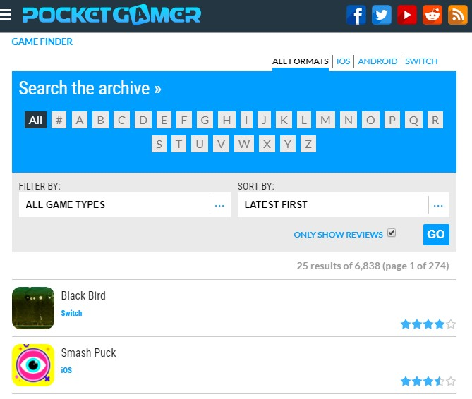 Find all the games you want with our Game Finder