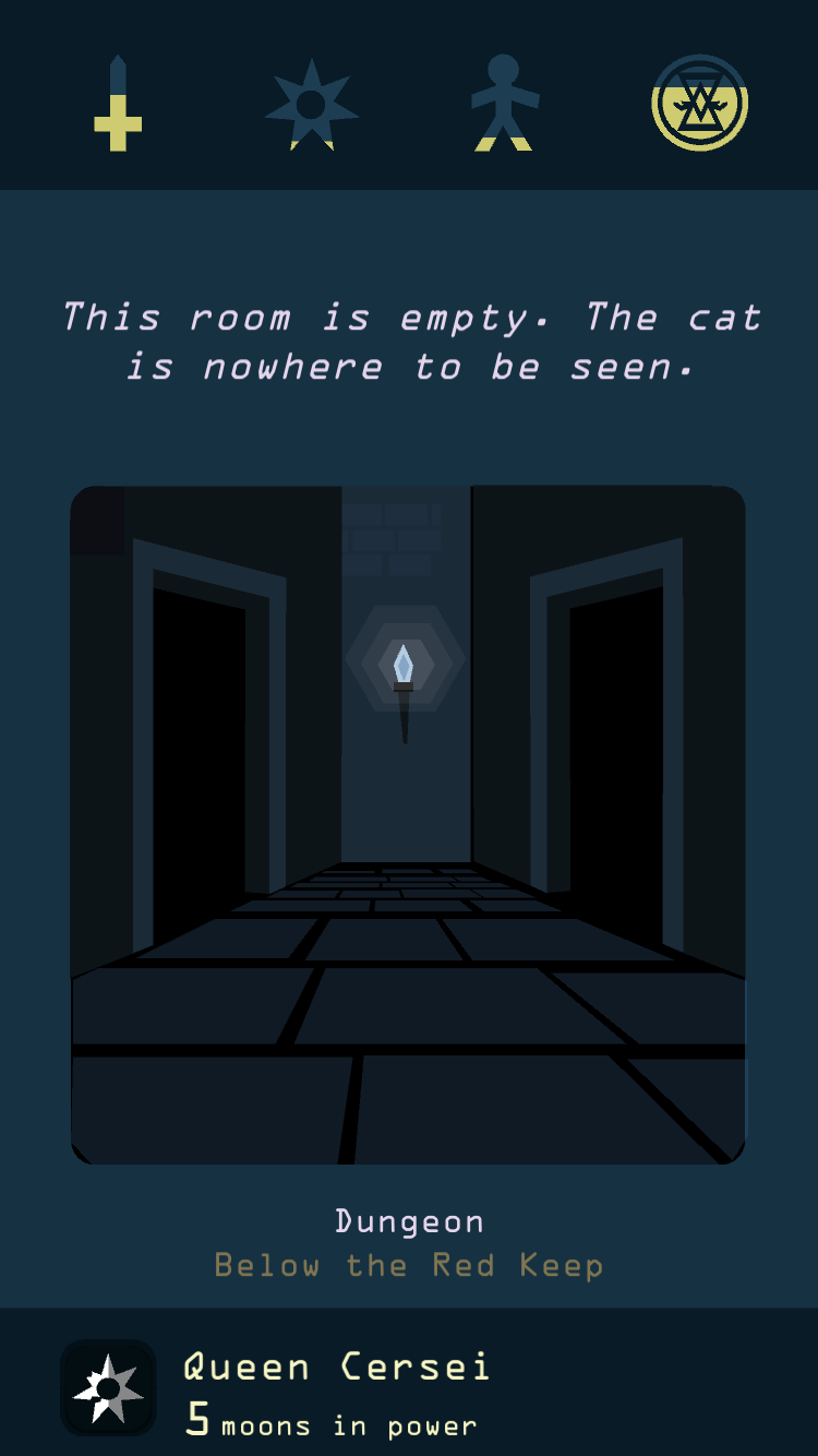 Reigns: Game of Thrones iOS review screenshot - Exploring a dungeon