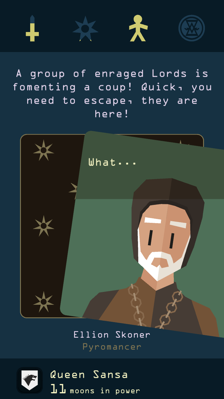 Reigns: Game of Thrones iOS review screenshot - Making a choice