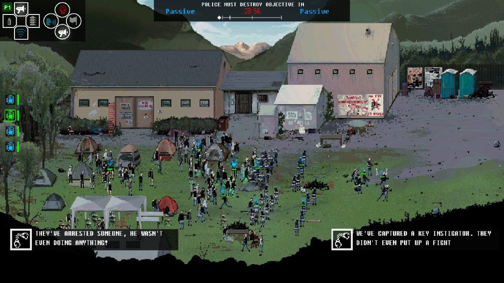 Riot: Civil Unrest Switch Screenshot Italy Protest