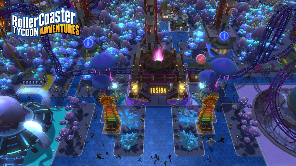 RollerCoaster Tycoon Adventures Switch Screenshot Sci-Fi Park