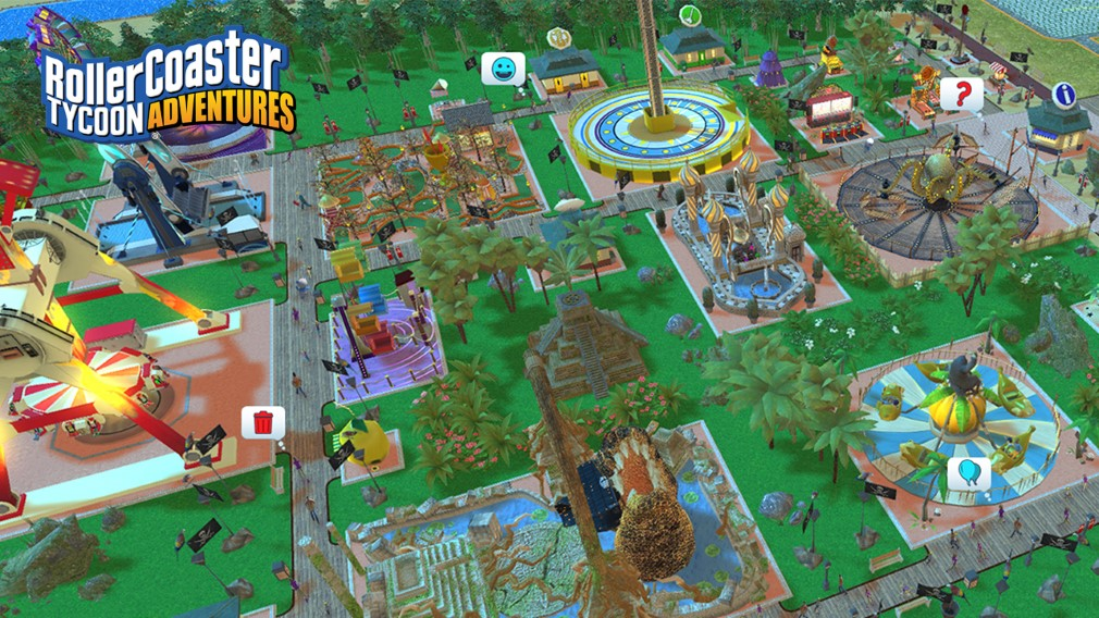 RollerCoaster Tycoon Adventures Switch Screenshot Tropical Park