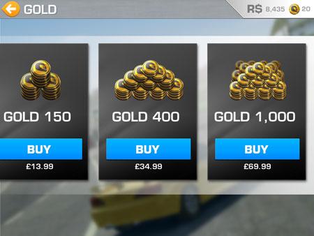 Real Racing 3 store