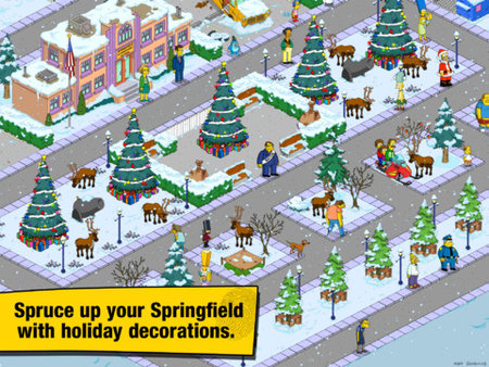 Simpsons Christmas Village.The Simpsons Tapped Out Shows Some Festive Cheer In