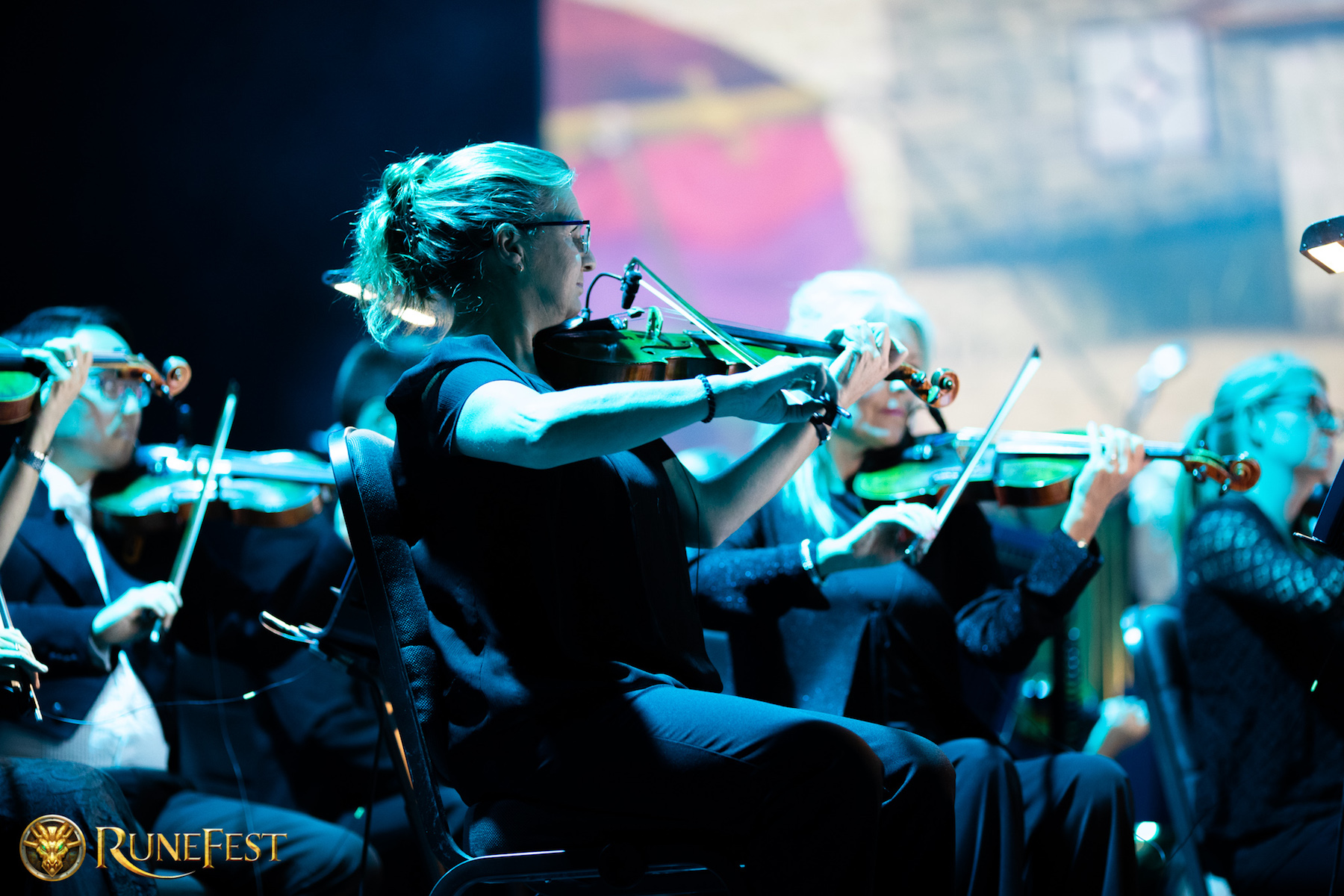 Runefest image - The string section of the Royal Philharmonic Concert Orchestra