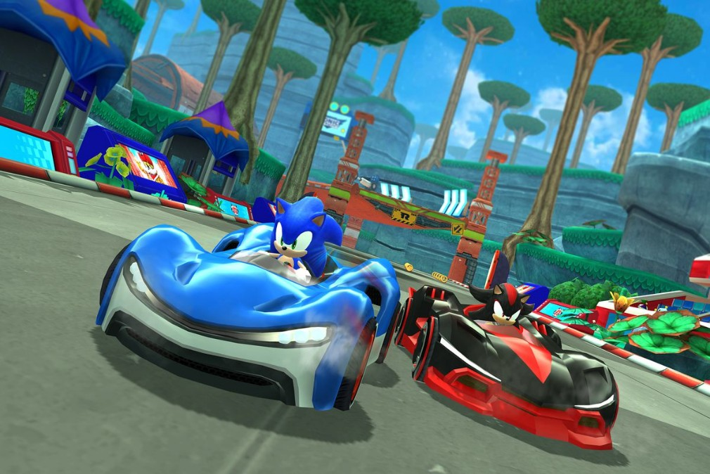Team Sega Racing iOS screenshot - Sonic versus Shadow