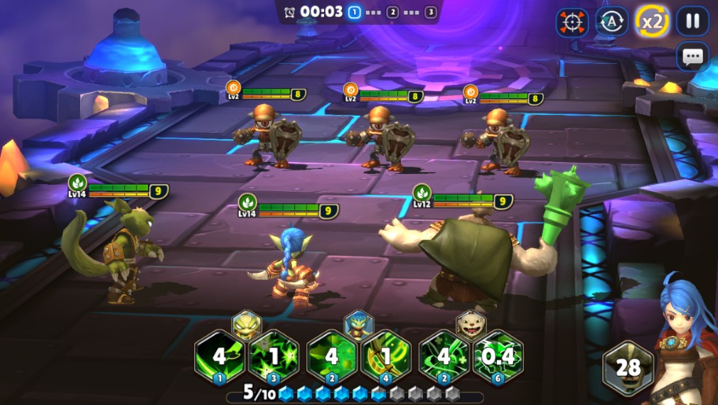 Skylanders: Ring of Heroes iOS screenshot - A fight against tech enemies
