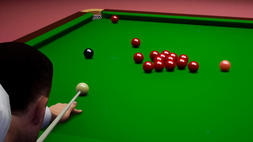 Snooker 19 Switch Screenshot From Behind Dude Lining Up A Shot
