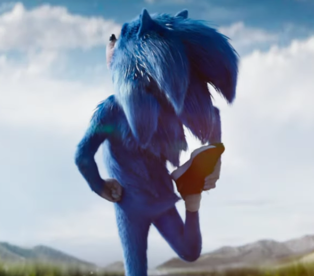 Sonic the Hedgehog film screenshot - Sonic's butt