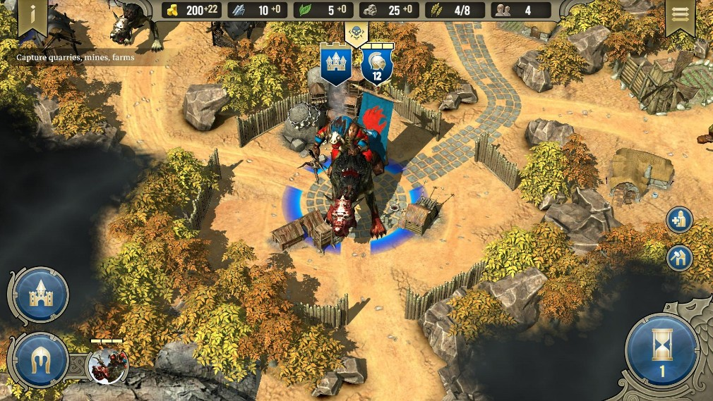 Spellforce: Heroes and Magic Android screenshot - A large unit