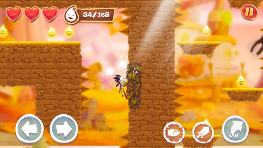Spirit Roots iOS review screenshot - Climbing some vines