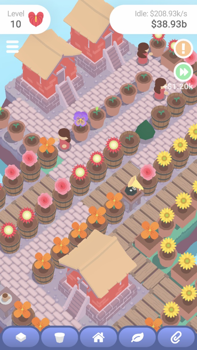 Sprout: Idle Garden iOS screenshot - Some of the gardeners at work