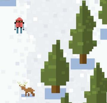 Ice Ski Downhill