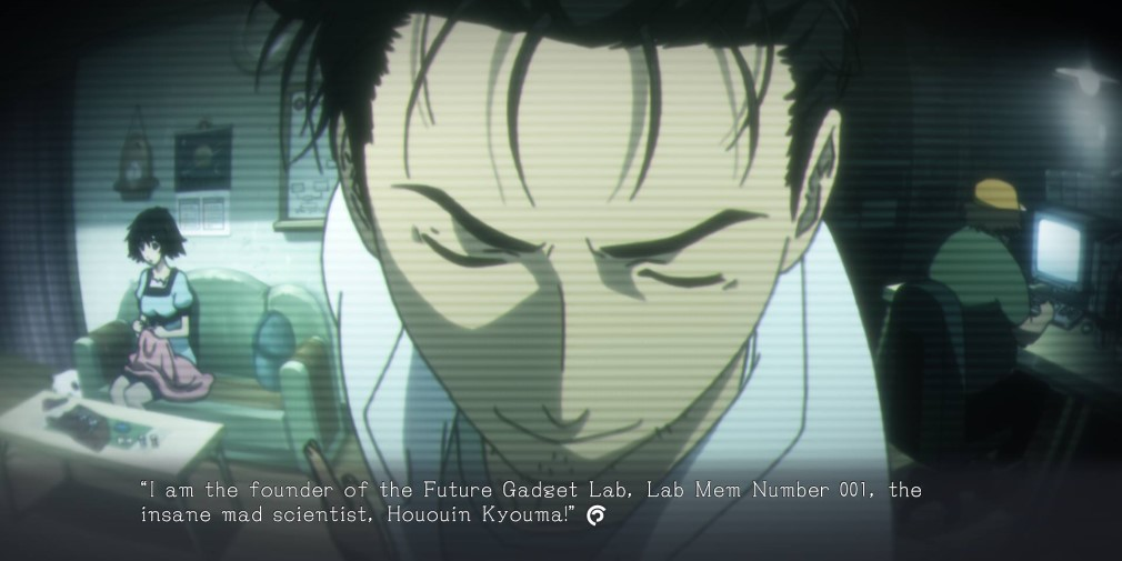 Steins;Gate Elite Swith Screenshot Rintaro Breaking the Fourth Wall