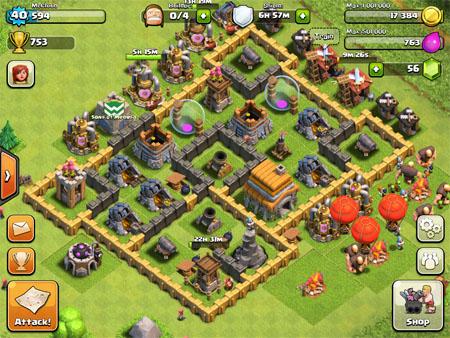 clash of clans city