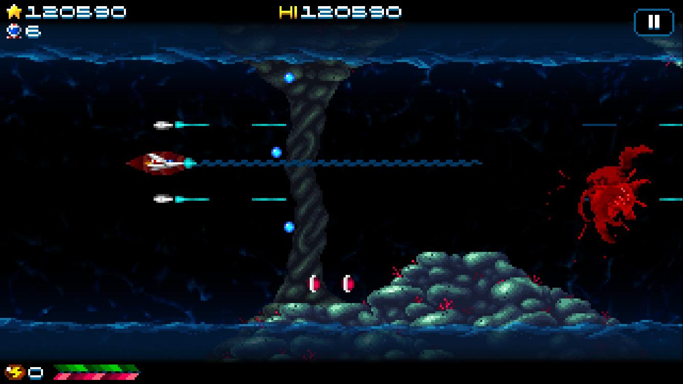 Super Hydorah iOS review screenshot 1