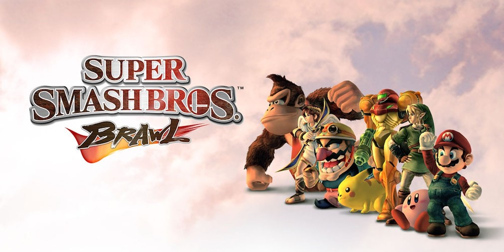 Super Smash Bros. Brawl artwork showing the main characters posing