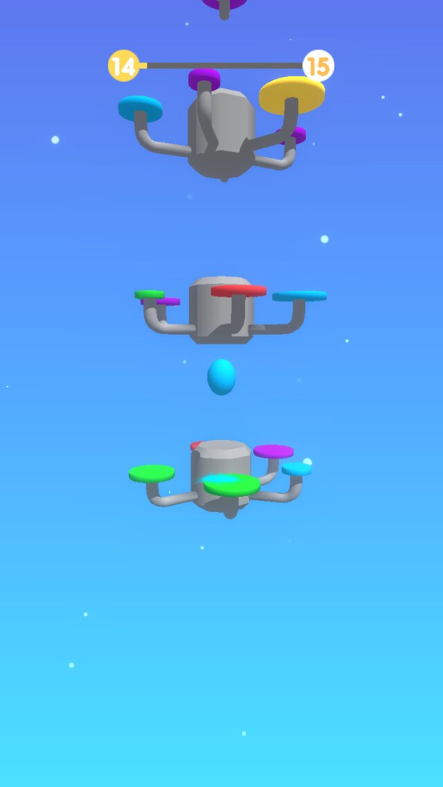 Swift Color Jump iOS screenshot - Bouncing between two platforms