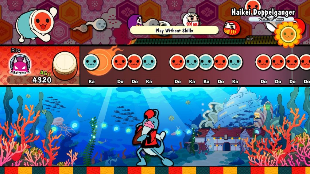 Taiko no Tatsujin: Drum 'n' Fun Switch Screenshot Haikei Doppelganger
